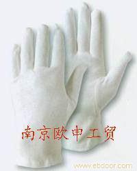 全棉白三筋手套