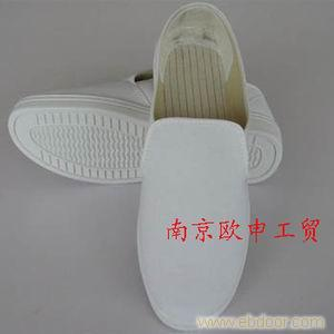 PVC底-白帆布防静电中巾鞋